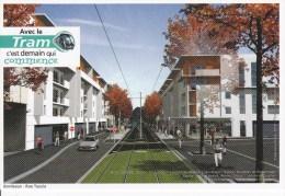 CPM Communauté Urbaine De BORDEAUX Rue Tauzia, Tramway - Strassenbahnen