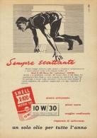 # ROYAL DUTCH SHELL OIL 1950s Car Italy Advert Pub Pubblicità Reklame Huile Olio Aceite Ol Athletics - Vervoer