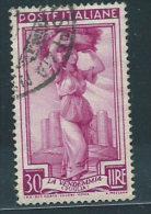 Italia 1950 Usato - Italia Al Lavoro £ 30 - 6. 1946-.. Repubblica