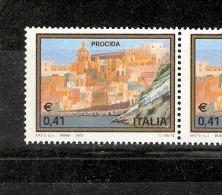 Turistica 2003 Isola Di Prcida Con Stampa Fortemene Spostata A Destra Rarità Non Quotata - Abarten Und Kuriositäten