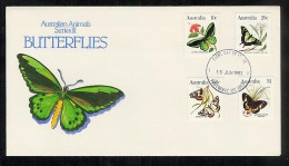 Australia 1983 FDC First Day Cover Butterflies (B105) - Premiers Jours (FDC)