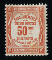 FRANCE - TAXE YT 47 - TIMBRE NEUF * - 1859-1955 Mint/hinged