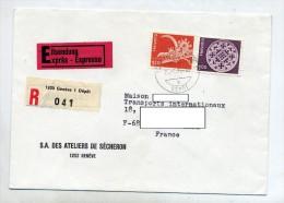 Lettre Recommandee Geneve Sur Patrimoine - Postmark Collection