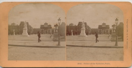 FRANCE - PARIS - Photo STEREO - Les Tuileries - Palace Of The Tuileries - Stereoscopic