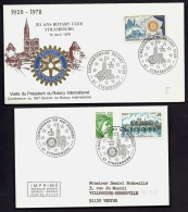 LOT 2 LETTRES + 2 CARTES ROTARY INTERNATIONAL- EUROPE- FRANCE- TAMPONS DE 1978-86-91-95 - 3 SCANS - Rotary, Lions Club