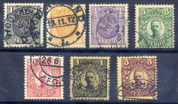 SWEDEN 1910-14 Definitive With Crown Watermark Used.  Michel 57-63 - Sweden