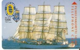 TARJETA DE FINLANDIA DEL BARCO SEDOV DE RUSIA (SHIP-VELERO) CUTTY SARK - Barche