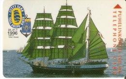 TARJETA DE FINLANDIA DEL BARCO ALEXANDER VON HUMBOLDT DE ALEMANIA (SHIP-VELERO) CUTTY SARK - Barche
