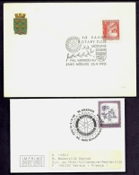 LOT 4 LETTRES ROTARY INTERNATIONAL- EUROPE- 3 AUTRICHE- 1 SAN MARINO- TAMPONS DE 1965-70-77-88 - 2 SCANS - Rotary, Lions Club