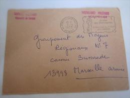 Lettre MILITARIA intendance militaire de Montpellier pour la caserne  BUSSERADE Marseille arm�e