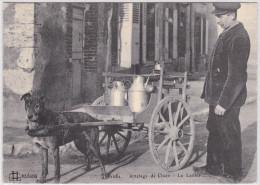 CPA 1910 /20 Réedition! 1282  Dépt 45 Loiret Orléans Métier Dimensions 10.5 X 14.5 Cm Attelage De Chien Le Laitier Animé - Shopkeepers