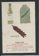 Tunisie Huile Dattes Phosphates Chromo Version Carton 90X60mm Dos Vierge Bien - Altri
