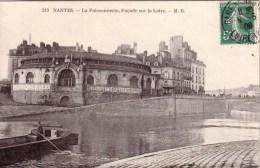 NANTES  N° 213 POISSONNERIE FACADE SUR LA LOIRE Circulée Timbrée 1908 PUBLICITE CONSERVES AMIEUX FRERES CHOCOLAT MEUNIER - Nantes