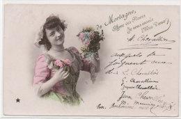 De MORTAGNE Avec Ces Fleurs Je Vous Envoie Mes Voeux (Fantaisie)  (71306) - Mortagne Au Perche