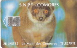 COMOROS ISL. - Maki(no Moreno Logo, No CN), Chip SC7, Used - Comoros