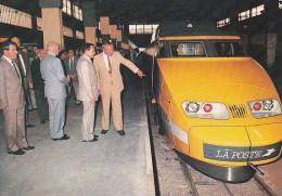 """Scan10 : La Poste - """"TGV  POSTAL""""  Série De 6 Cartes 1984 (voir Description) - Eisenbahnen"""