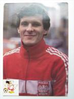 A Zgutczynski Polish Soccer Player  - World Cup  Mexico 1986  / AJ Auxerre / Postcard - Calcio