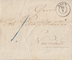 Brief Gelaufen Von Roth 16.1. 1850 Nach Neuwied - ...-1849 Vorphilatelie