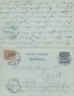 DR Ganzsache Minr. P41 F/A Zfr. Minr.2x 54 Gelaufen Mit KOS - Deutschland