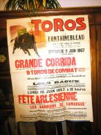 Corrida et f�te arl�sienne � Fontainebleau