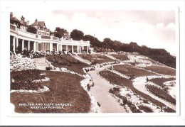 RP SHELTER AND CLIFF GARDENS WESTCLIFF ON SEA ESSEX USED 1939 - Southend, Westcliff & Leigh