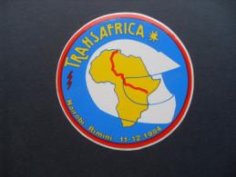 ADESIVO PUBBLICITARIO VINTAGE RAID TRANSAFRICA NAIROBI- RIMINI 1984 MOTO - MOTORCYCLE -RALLY - Adesivi