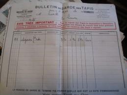 Grands Magasins Du Louvre /Bulletin De Garde De Tapis/Paris / 1930    VP644 - Non Classés