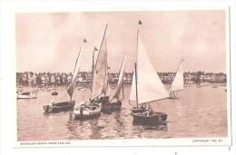 FRONT FROM THE SEA YACHT YACHTING BOATING WESTCLIFF ON SEA ESSEX UNUSED - Southend, Westcliff & Leigh