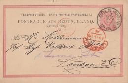 DR Ganzsache Gel. Von Cöln 13.8.86 Nach London Ansehen !!!!!!!!!!!!!!!!!!!! - Deutschland
