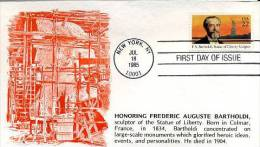USA - Frederic Auguste Bartholdi - C4113 - First Day Covers (FDCs)
