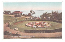 THE FLORAL CLOCK   WESTCLIFF ON SEA ESSEX DISTANT PIER - Southend, Westcliff & Leigh