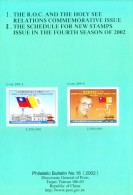 CHINA INFORMATION SHEET / BROCHURE - PHILATELIC BULLETIN NO. 16 - 2002 - 1949 - ... People's Republic