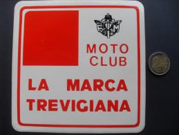ADESIVO PUBBLICITARIO VINTAGE MOTO CLUB LA MARCA TREVIGIANA TREVISO  FORMATO GRANDE -   MOTO - MOTORCYCLE - - Adesivi