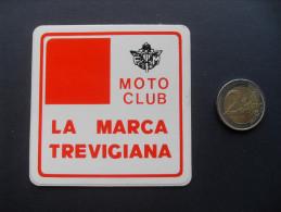 ADESIVO PUBBLICITARIO VINTAGE MOTO CLUB LA MARCA TREVIGIANA TREVISO  FORMATO MEDIO -   MOTO - MOTORCYCLE - - Adesivi