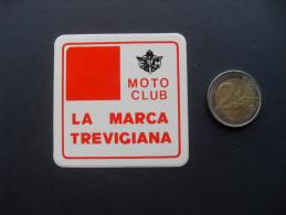 ADESIVO PUBBLICITARIO VINTAGE MOTO CLUB LA MARCA TREVIGIANA TREVISO  FORMATO PICCOLO -   MOTO - MOTORCYCLE - - Adesivi