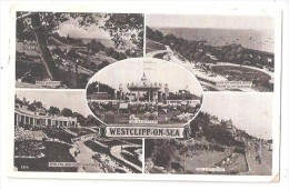 WESTCLIFF ON SEA MULTIVIEW POSTCARD USED 1950 NR SOUTHEND ON SEA ESSEX SHOWS BANDSTAND  LIDO SWIMMING BATH ETC - Southend, Westcliff & Leigh