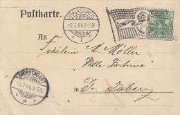 DR Karte Bickerdike-Maschinenst. Braunschweig 2.7.04 EF Minr.70 - Deutschland