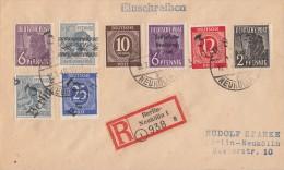 Berlin R-Brief Mit Bezirkshandst.-Marken Berlin 10.7.48 Ansehen !!!!!!!!!!!!! - Berlin (West)