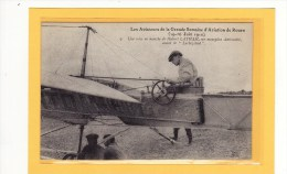 TRANSPORTS/AVIATION/AVION S/Les Aviateurs De La Grande Semaine D´Aviation De Rouen Une Mise En Marche De Hubert LATHAM - Aviatori