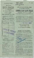 Contributions Directes/ Pli/ Sommation Sans Frais / Ministére Des Finances / Ville De Paris / 1932          VP648 - Non Classés