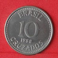 BRAZIL  10  CRUZADOS  1988   KM# 607  -    (Nº08119) - Brésil