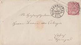 NDP GS-Umschlag 1 Gr. Wolfenbüttel 12.3.1870 - Norddeutscher Postbezirk