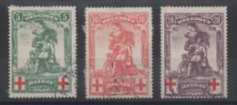 Belgique - YT N° 126 à 128 - Cote: 67,00 € - 1914-1915 Croce Rossa