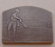 DB-056Médaille  Bronze Signée M.Lordonnois A.Chorillon Edit.L'Echo De Paris Tennis 1925-1926 - Obj. 'Souvenir De'