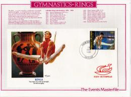 """Côte D'Ivoire: 1988 Très Belle Fdc Sur Support, Jeux Olympiques De Séoul Gymnastique Les Anneaux """"voir Descriptif"""" - Gymnastik"""