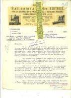 75 - Paris - PARIS - Facture BERTHIEZ - Machines Outils – 1924 - REF 78 - 1900 – 1949