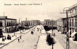 SIRACUSA - PIAZZA PANCALI E CORSO UMBERTO -  ANIMATA - FORMATO PICCOLO - C962 - Siracusa
