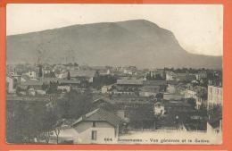 JAE-19 Annemasse, Vue Générale Et Le Salève.  Cachet Gare D'Annemasse Pour Paris, En 1908 - Annemasse