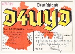 GERMANY  RADIO  CARD   (o) - Covers & Documents