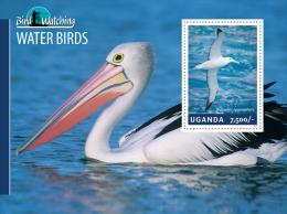 ugn14305b Uganda 2014 Bird Watching s/s Water Birds Pelican